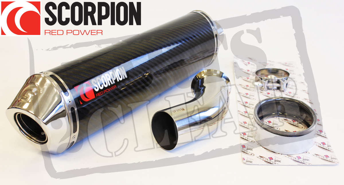 BMW K1200S K1200R 05-06 SCORPION EXHAUST CARBON FACTORY OVAL SILENCER