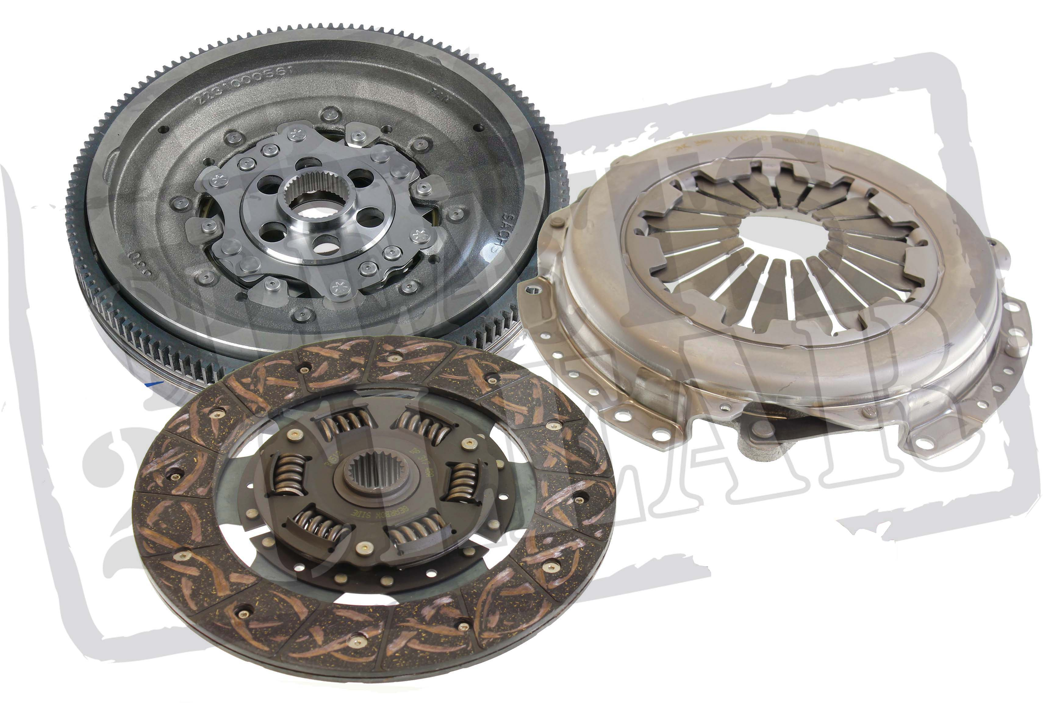 Semi Clutch Kits : Citroen c grand picasso hdi dual mass flywheel clutch