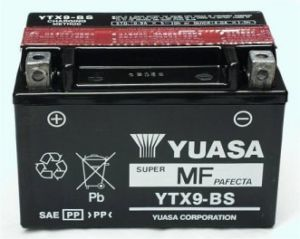 GENUINE YUASA YTX9-BS MOTORCYCLE BATTERY