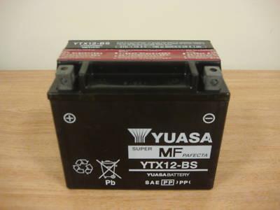 genuine yuasa ytx12 bs motorbike quad jetski battery gel. Black Bedroom Furniture Sets. Home Design Ideas