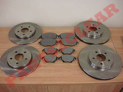 FORD MONDEO MK3 FRONT AND REAR BRAKE DISCS + PADS 04-07