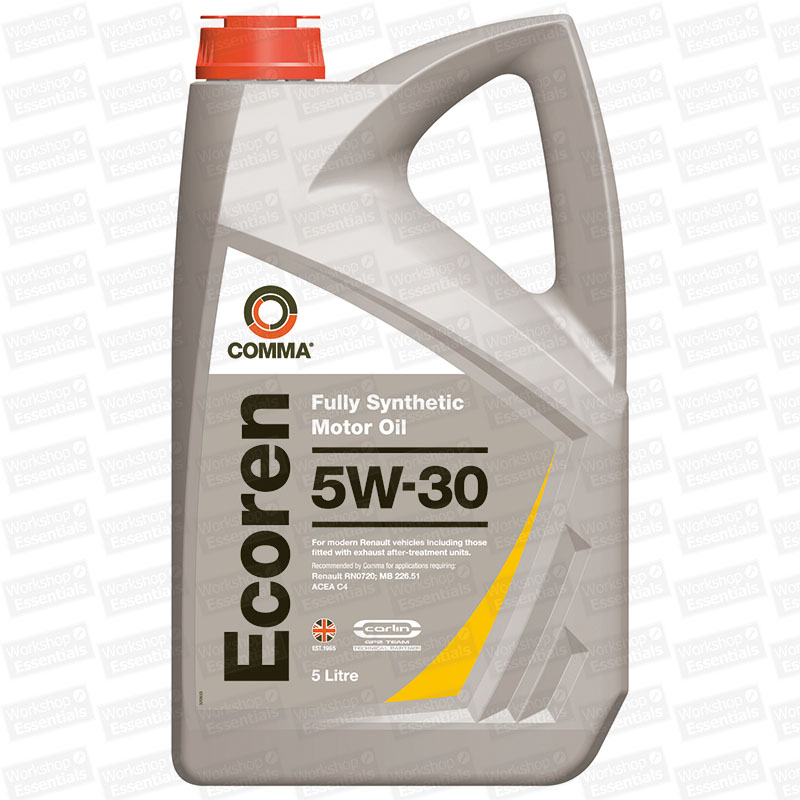 comma ecoren 5w 30 motor engine oil renault rn0720 mb 226. Black Bedroom Furniture Sets. Home Design Ideas