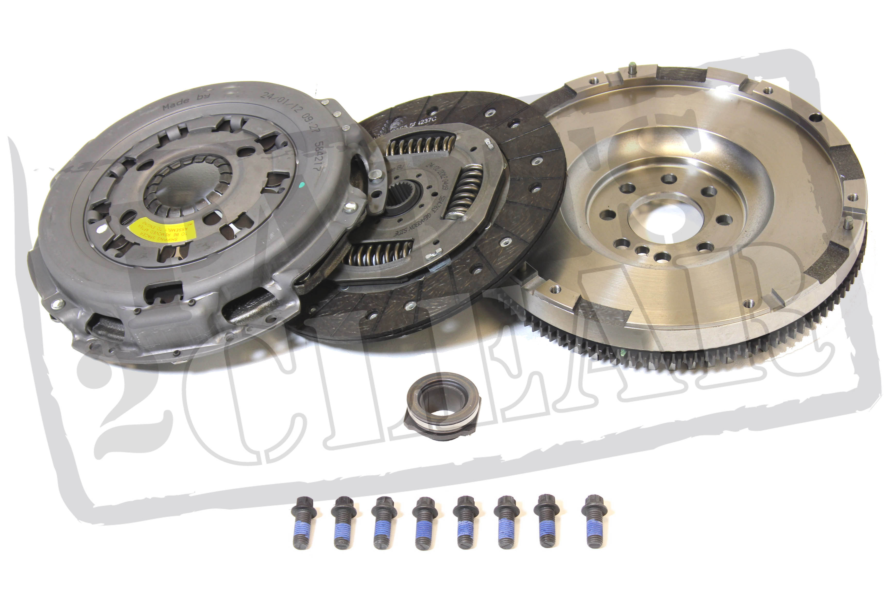 VW PASSAT 1.9 TDI 2005- SOLID MASS FLYWHEEL & CLUTCH KIT BKC BLS BXE 105BHP