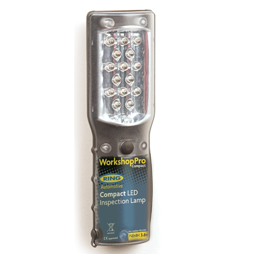 30 Led Rechargeable Inspection Lamp Light Torch Cordless: Ring Compact Rechargeable Cordless LED Inspection Lamp