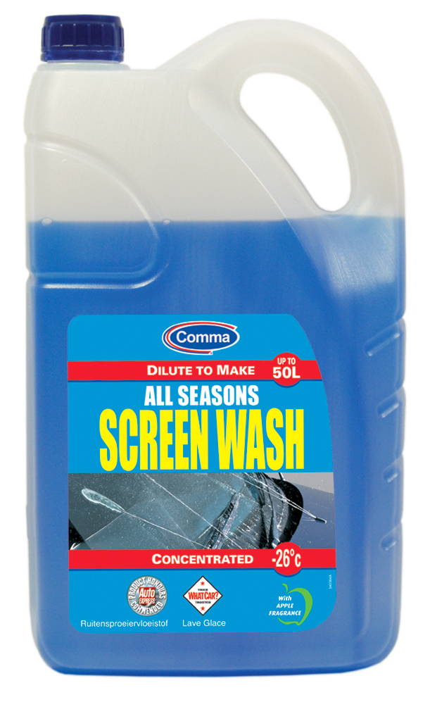 Comma All Seasons Concentrated Screenwash -26C 5 Litres - Makes up to 50L SW5L