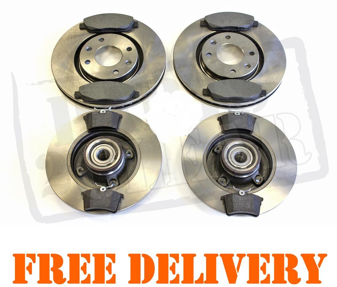 peugeot 308 front rear brake discs pads kit 1 4 1 6 2 0 hdi wheel bearings ebay. Black Bedroom Furniture Sets. Home Design Ideas