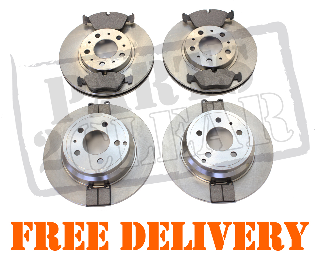 volvo v70 s70 96 99 front rear brake discs pads full set 16 wheels ebay. Black Bedroom Furniture Sets. Home Design Ideas