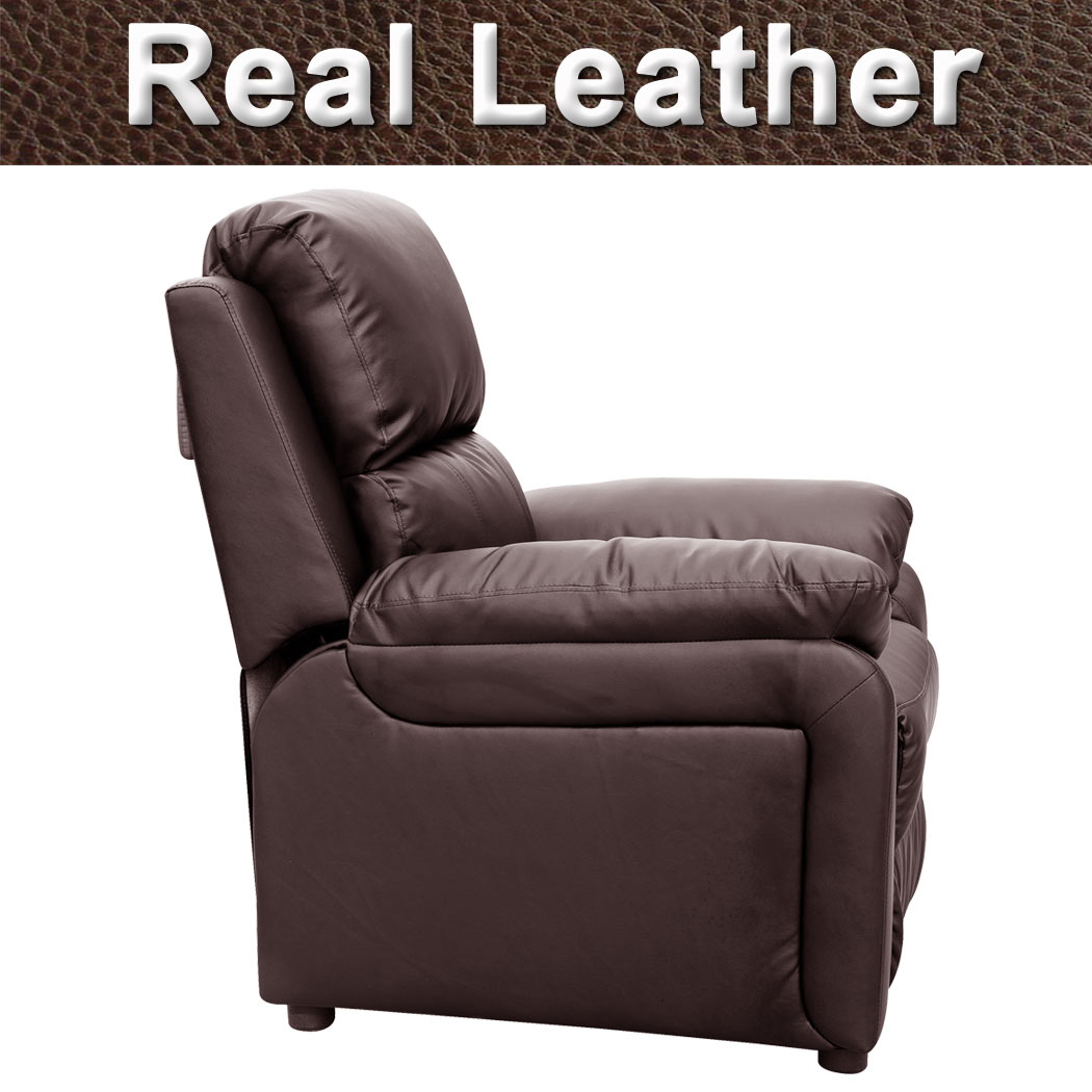 ultimo real leather recliner armchair sofa chair reclining home lounge
