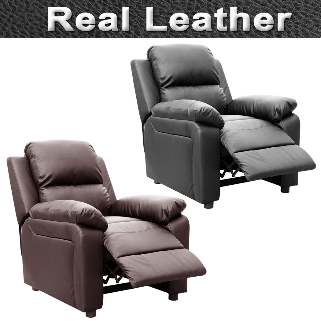 Ultimo Real Leather Recliner Armchair Sofa Chair Reclining