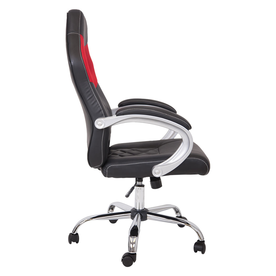 silverstone sport racing car office chair faux leather