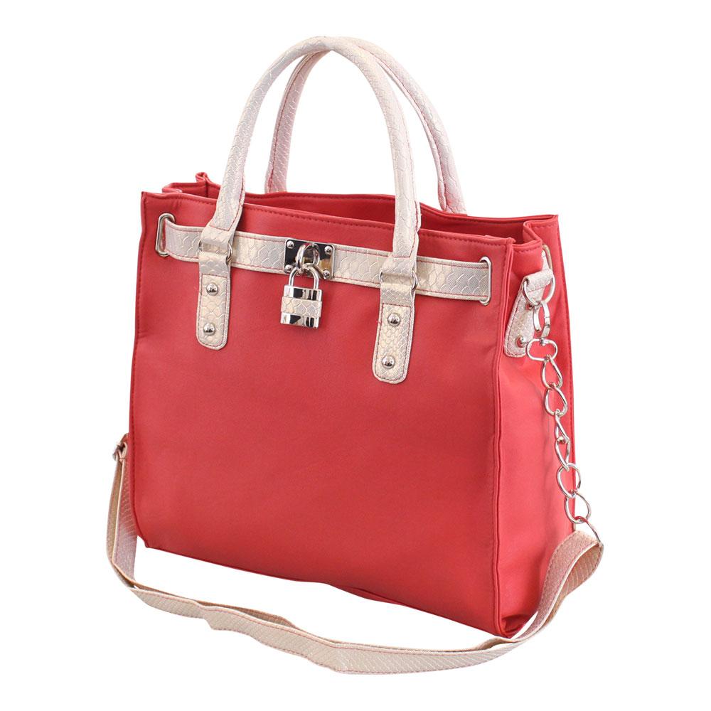 Ladies Designer Leather Style Padlock Tote Chain Satchel Shoulder Handbag Bag | EBay