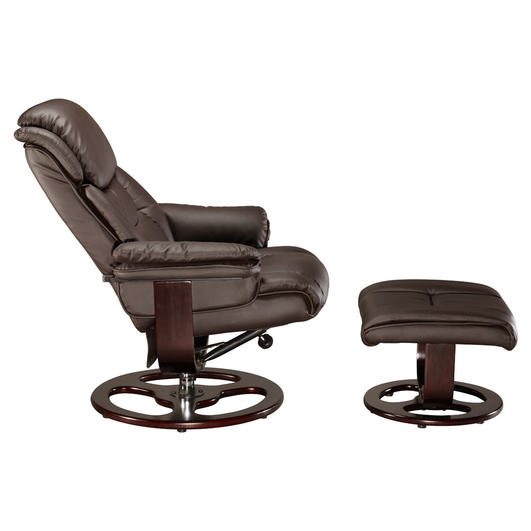 VIENNA REAL LEATHER SWIVEL RECLINER CHAIR w FOOT STOOL  : Vienna Brown Pic2 from www.ebay.co.uk size 1050 x 1050 jpeg 64kB