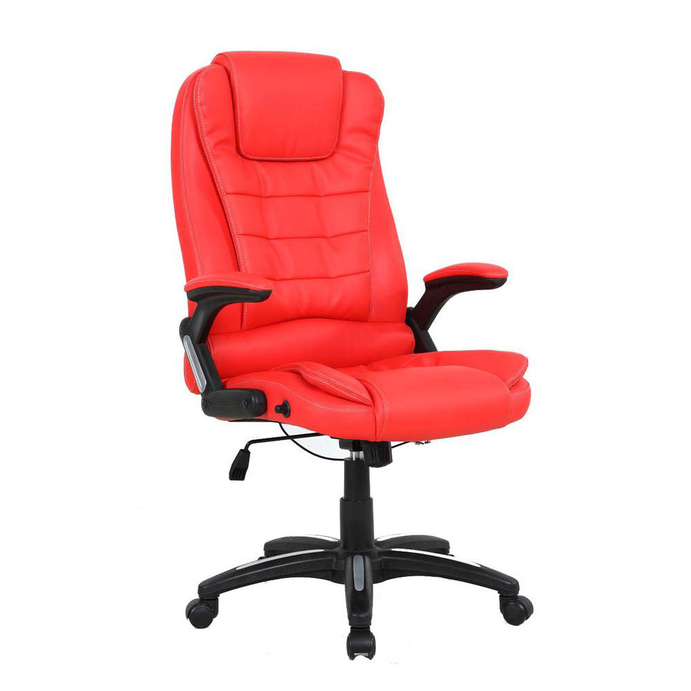 RIO LUXURY RECLINING EXECUTIVE OFFICE DESK CHAIR FAUX LEATHER HIGH BACK SWIVEL