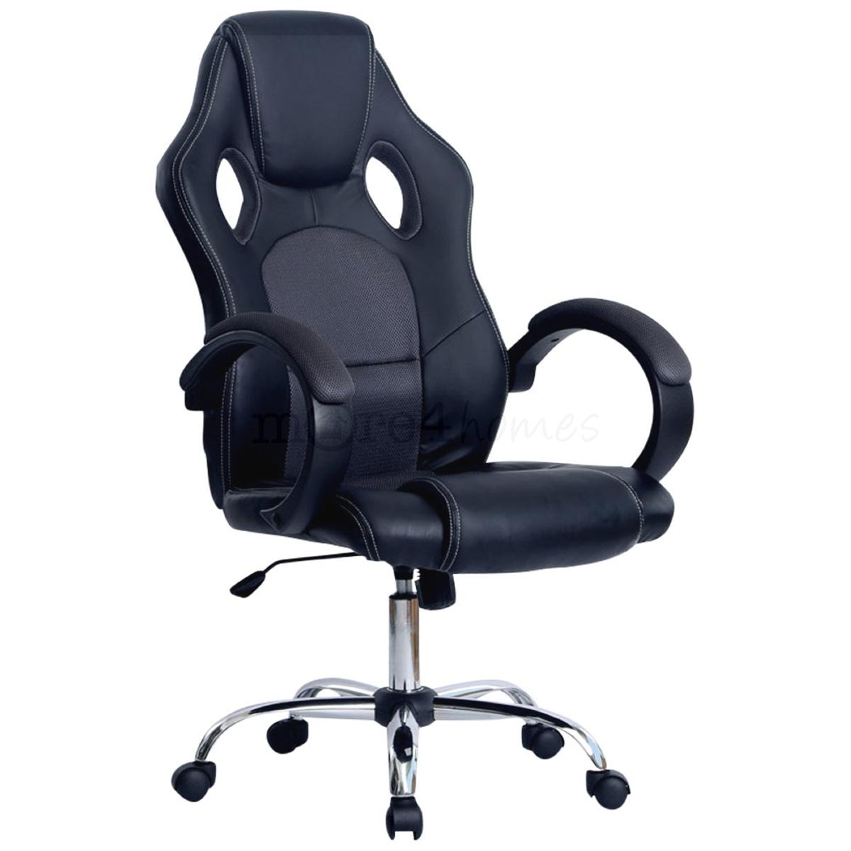 prix sport racing car office chair faux leather mesh bucket computer desk ebay. Black Bedroom Furniture Sets. Home Design Ideas