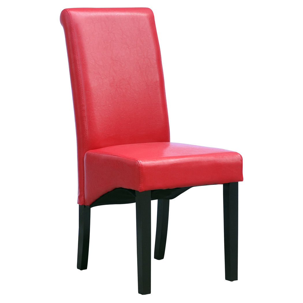 CAMBRIDGE FAUX LEATHER DINING CHAIR w ROLL TOP HIGH BACK  : 1057KD RedDL Pic1 from www.ebay.co.uk size 1050 x 1050 jpeg 60kB
