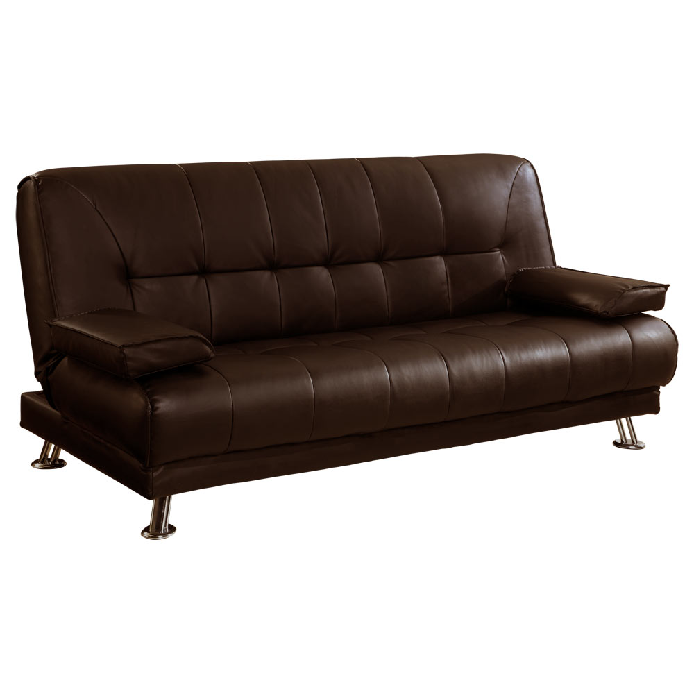 Sofa Bed 3 Seater Sofa Bed Futon Couch Faux Leather With