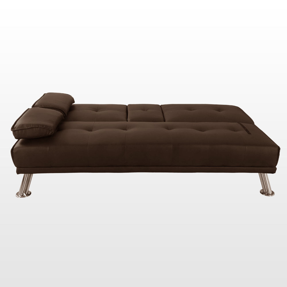 Rome 3 Seater Sofa Bed Faux Leather W Fold Down Table