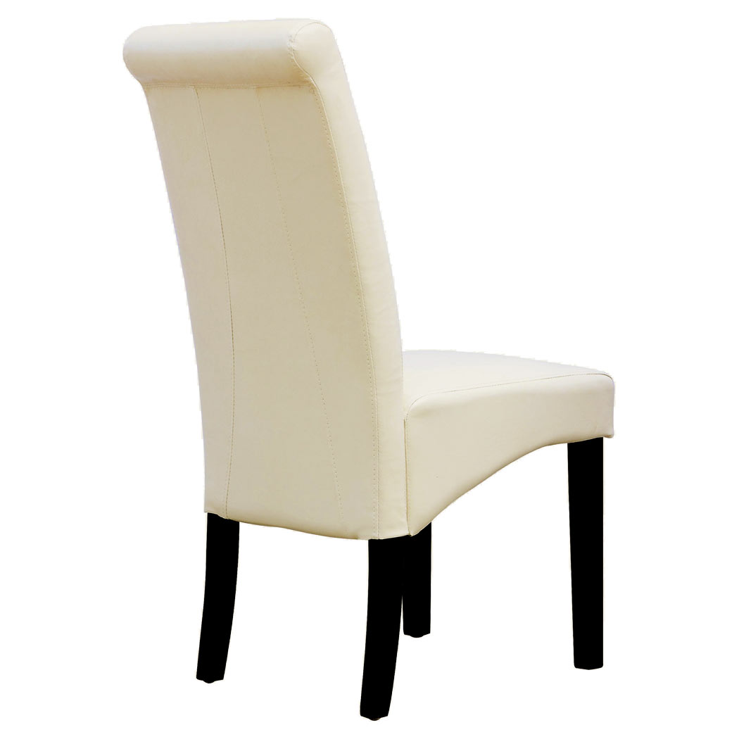 #836F48  LEATHER DINING CHAIR W ROLL TOP HIGH BACK SOLID WOOD OAK LEGS EBay with 1050x1050 px of Highly Rated High Back Wooden Bench 10501050 picture/photo @ avoidforclosure.info