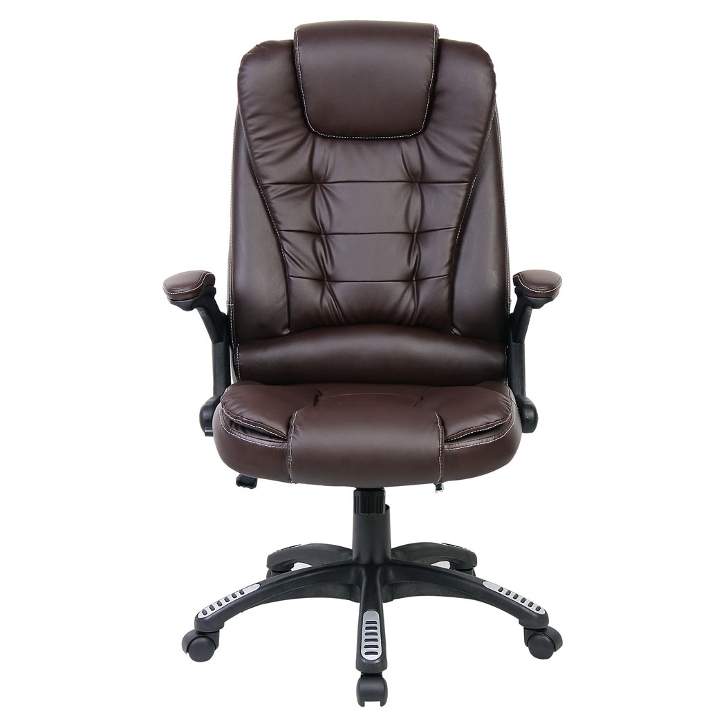 Rio luxury reclining executive office desk chair faux for Luxury leather office chairs