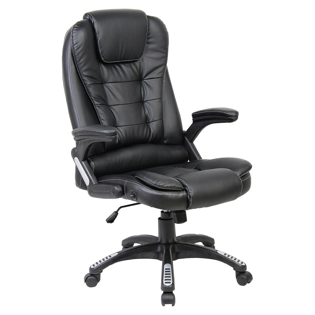 rio luxury reclining executive office desk chair faux leather high back swivel ebay. Black Bedroom Furniture Sets. Home Design Ideas