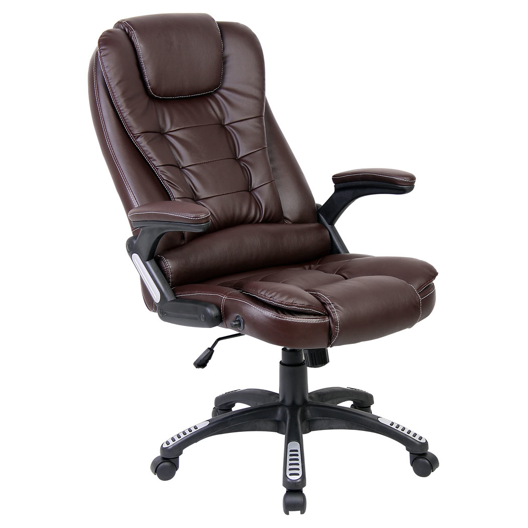 rio brown luxury reclining executive office desk chair