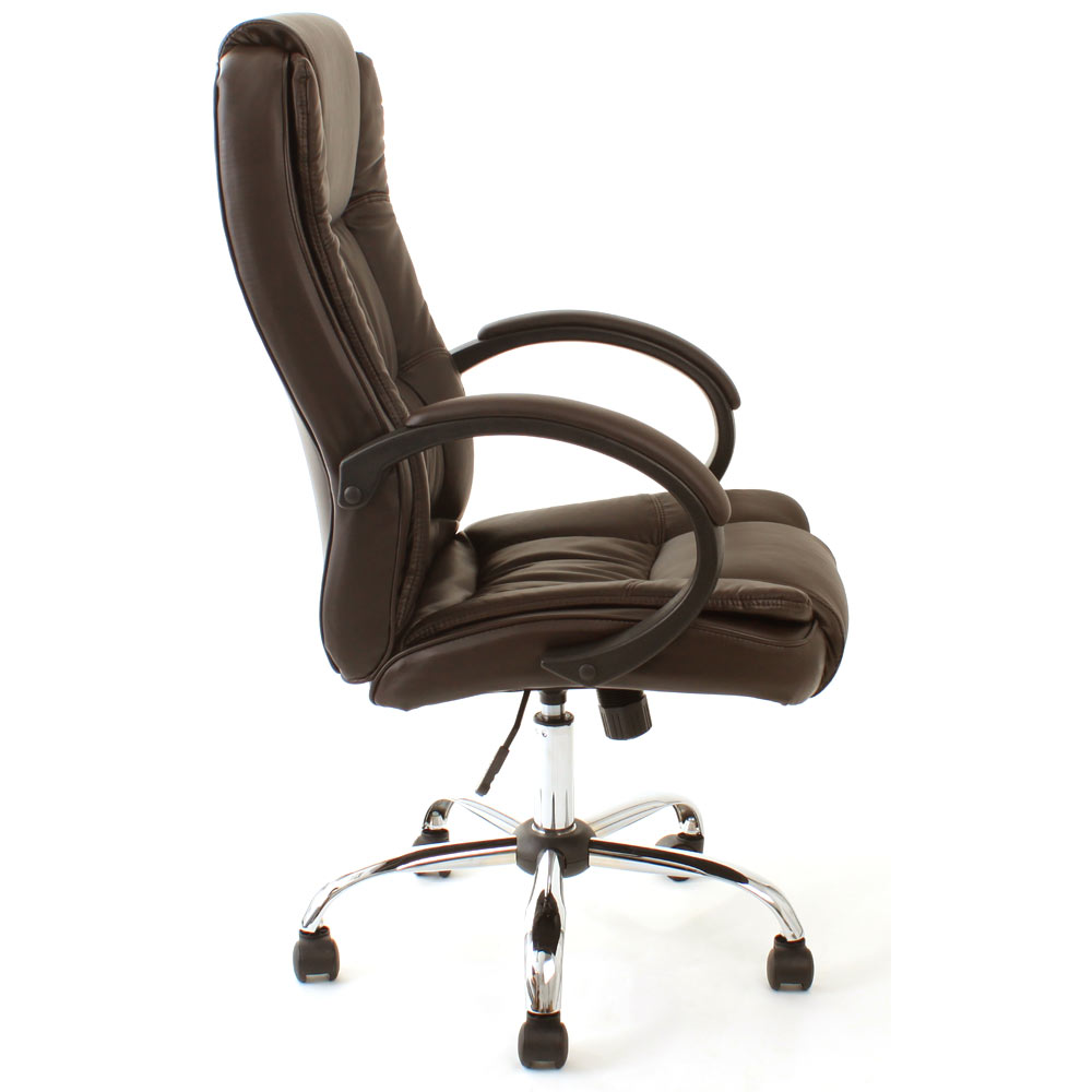 High back luxury executive office chair leather computer for Luxury leather office chairs