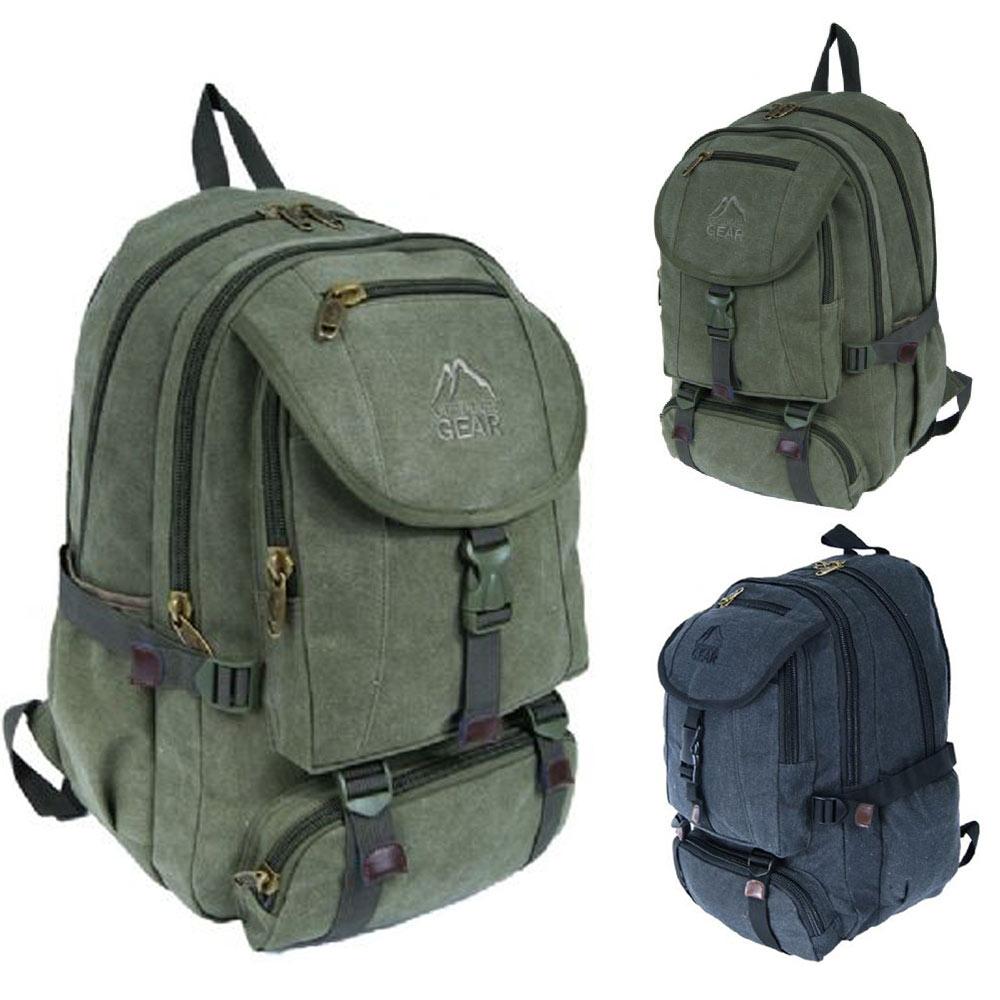 sac a dos en toile pour travail ecole pc portable sport. Black Bedroom Furniture Sets. Home Design Ideas