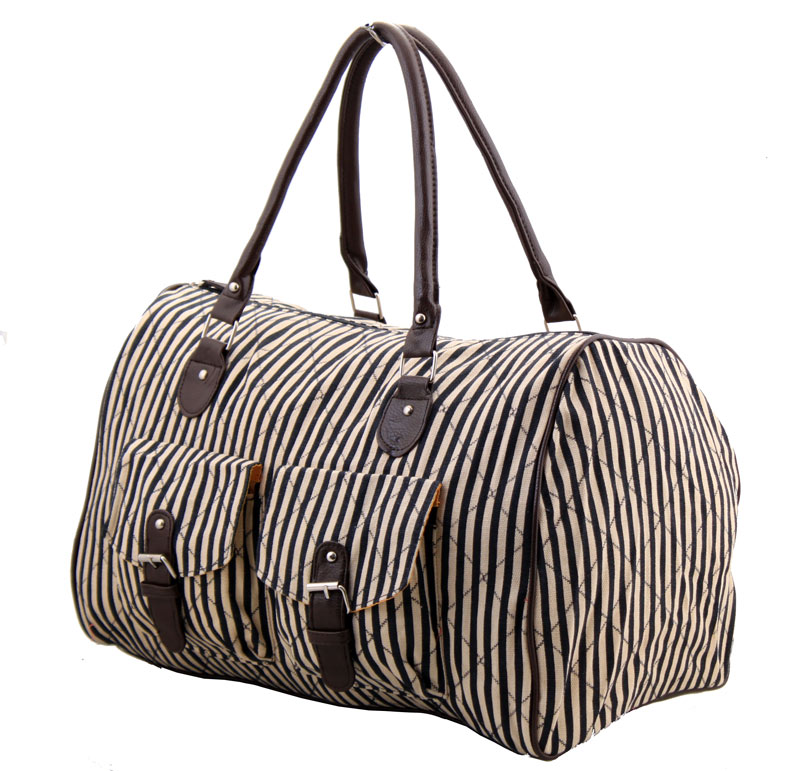 Brilliant Womens Canvas Weekend Travel Holdall Maternity Shoulder Handbag Bag