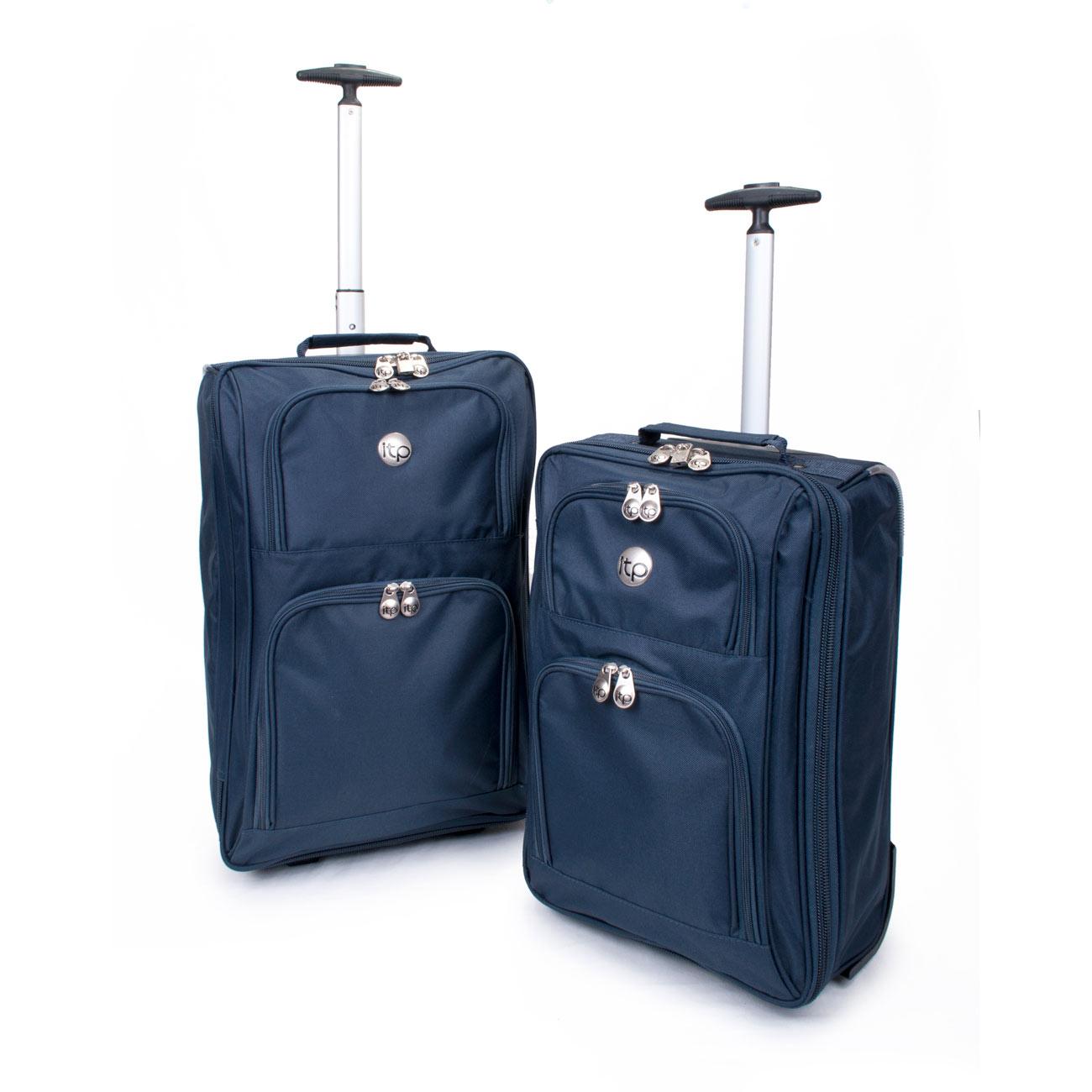lightweight cabin hand luggage travel holdall wheeled trolley suitcase bag new ebay. Black Bedroom Furniture Sets. Home Design Ideas