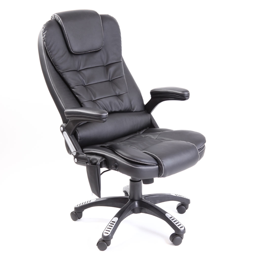 Rio Leather Reclining Office Chair W 6 Point Massage High