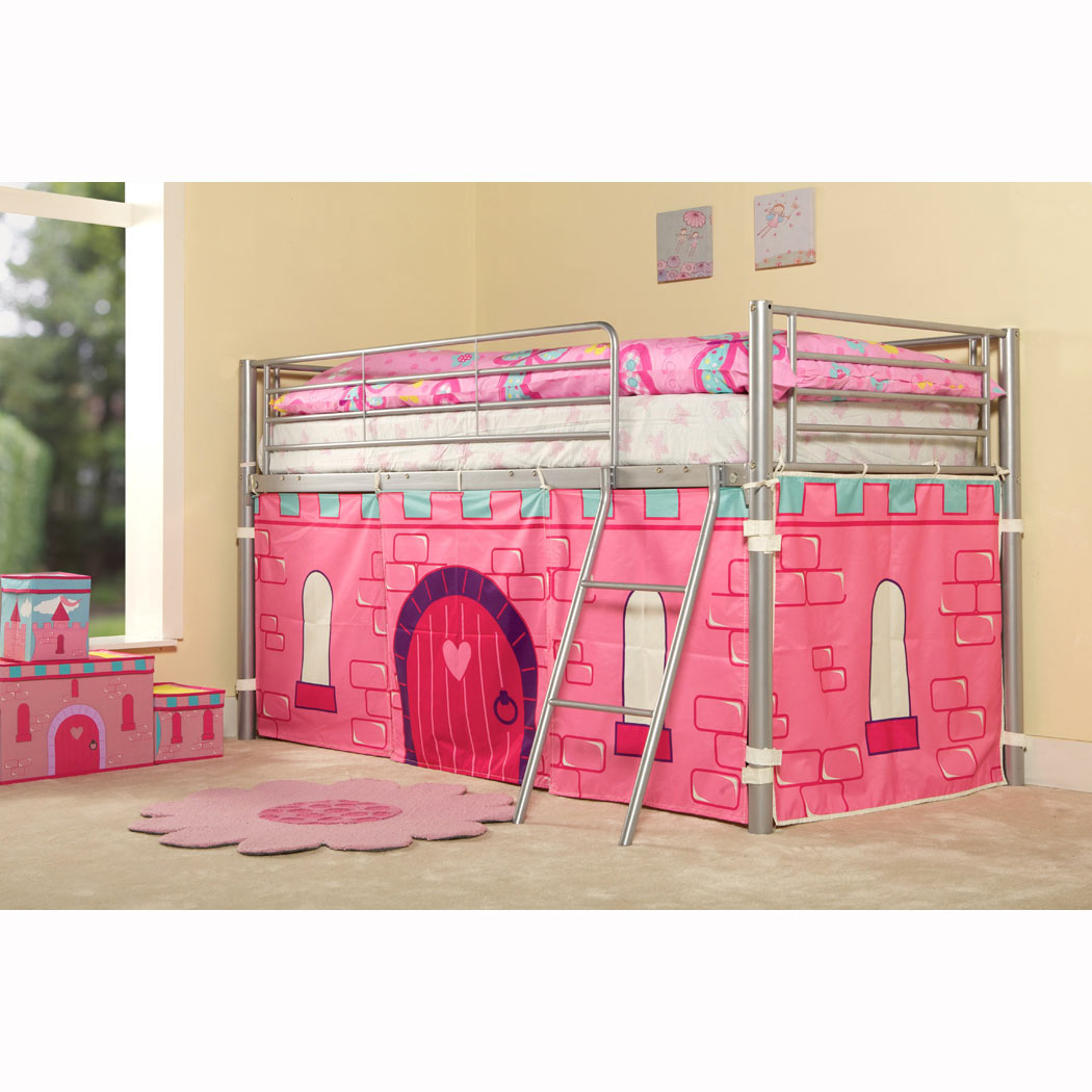Childrens Metal Mid Sleeper Boys Girls Cabin Bunk Bed