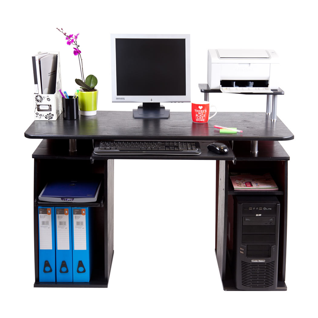 San Jose Black Computer Desk Work Station Pc Table Home