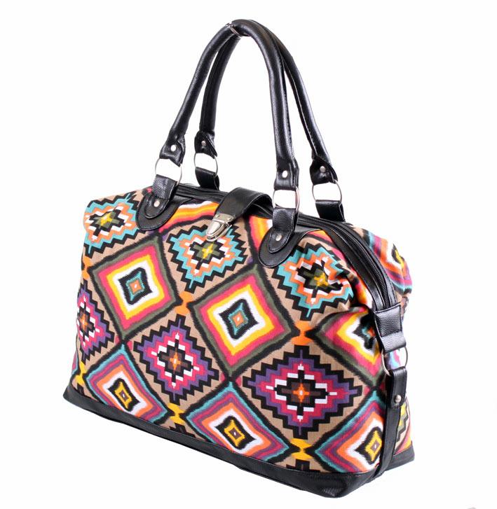 Ladies Womens Canvas Weekend Travel Holdall Maternity Shoulder Handbag Bag New