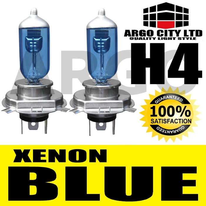 H4 XENON ICE BLUE 55W 472 HEADLIGHT BULBS AUSTIN MARINA 1,7