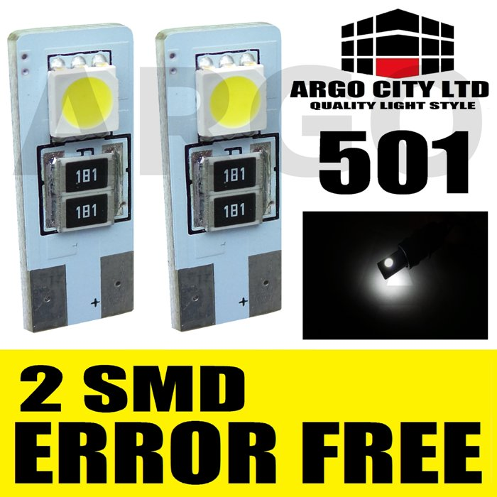 501 2 SMD ERROR FREE CANBUS WHITE SIDELIGHT BULBS JEEP COMMANDER