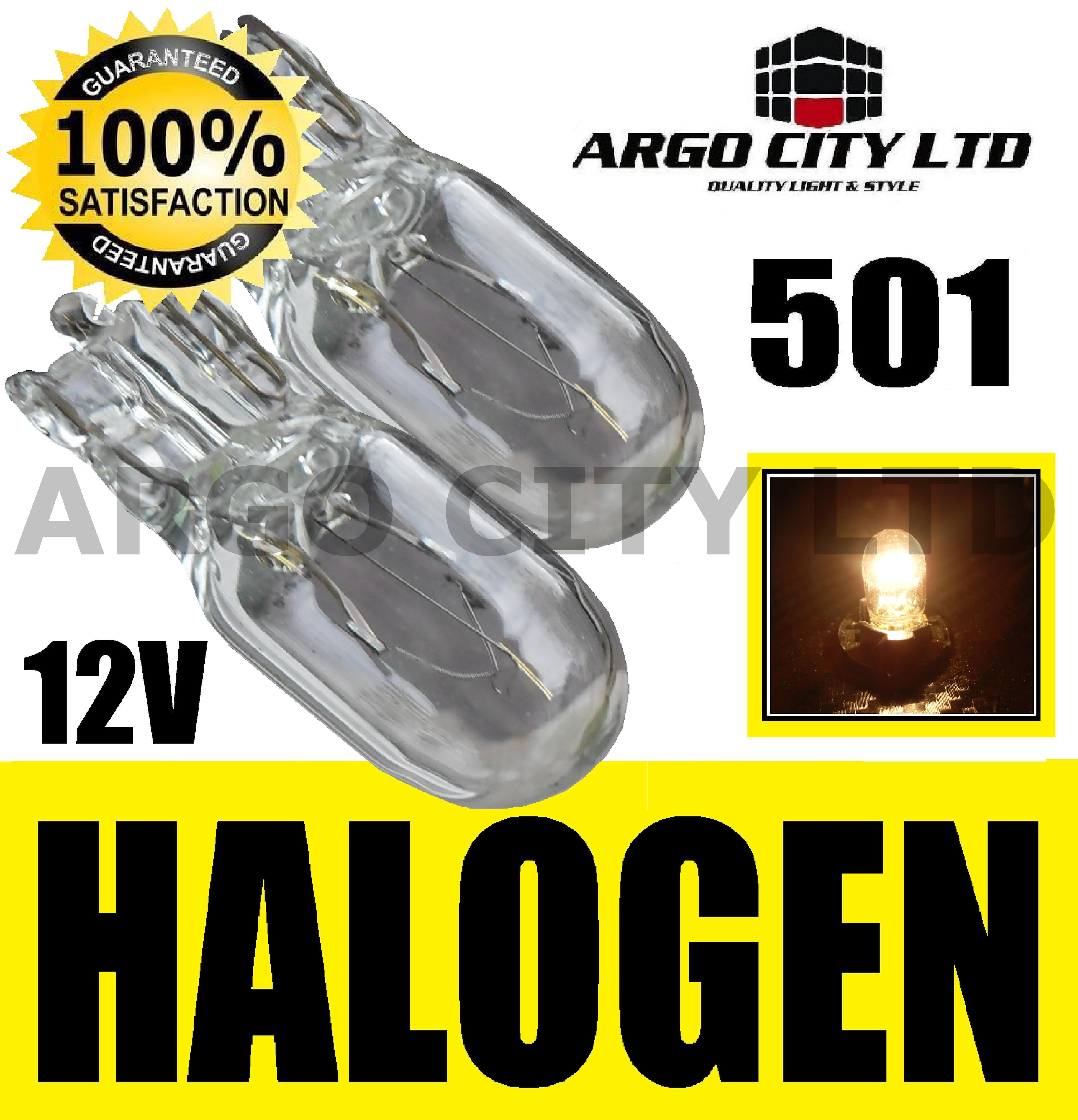501 CLEAR HALOGEN T10 W5W 194 SIDELIGHT BULBS LEXUS LS600H