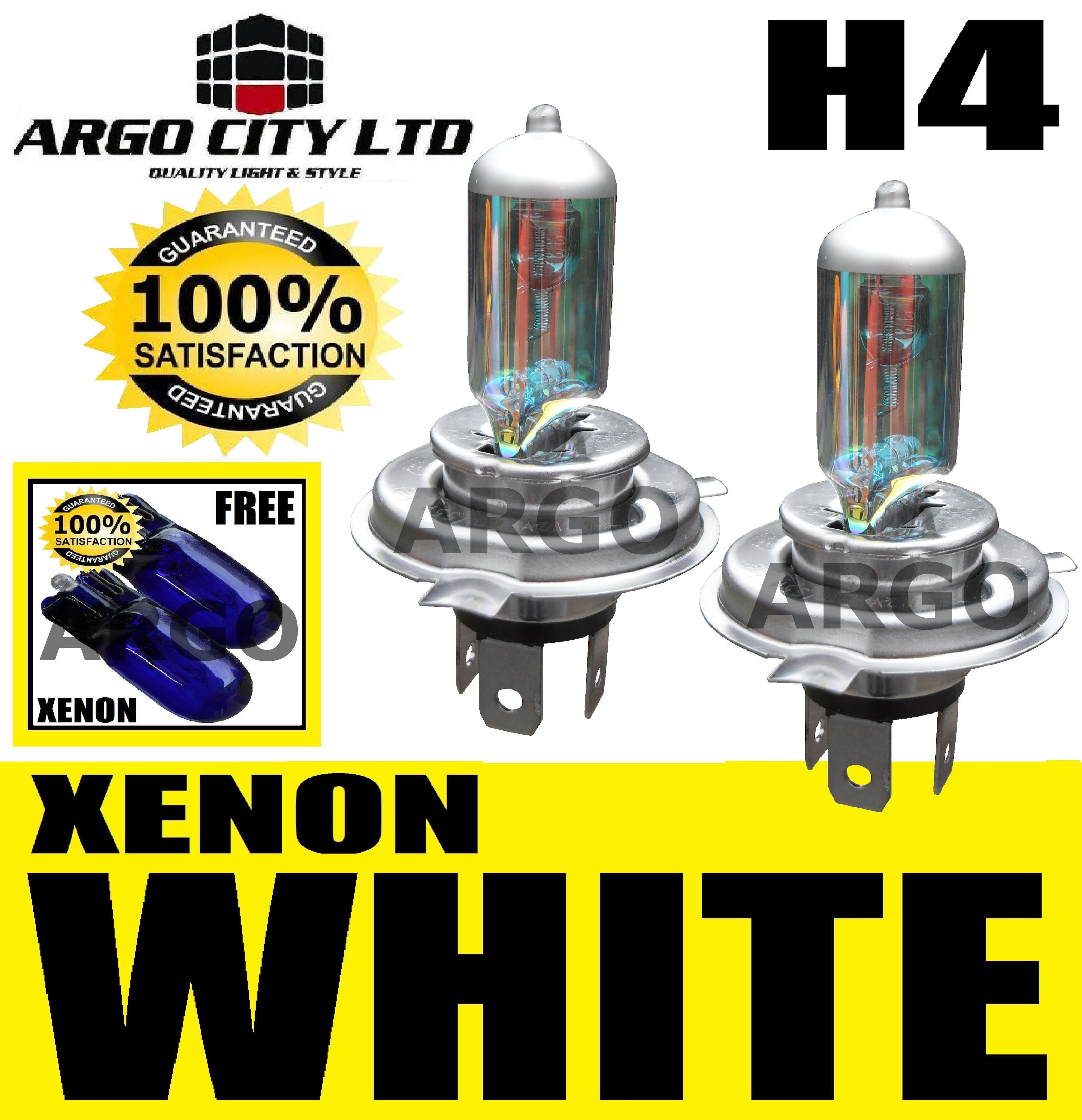H4 XENON WHITE 55W 472 HEADLIGHT BULBS DACIA LOGAN
