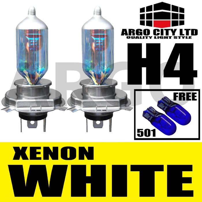 H4 XENON WHITE 55W 472 HEADLIGHT BULBS AUSTIN ITAL