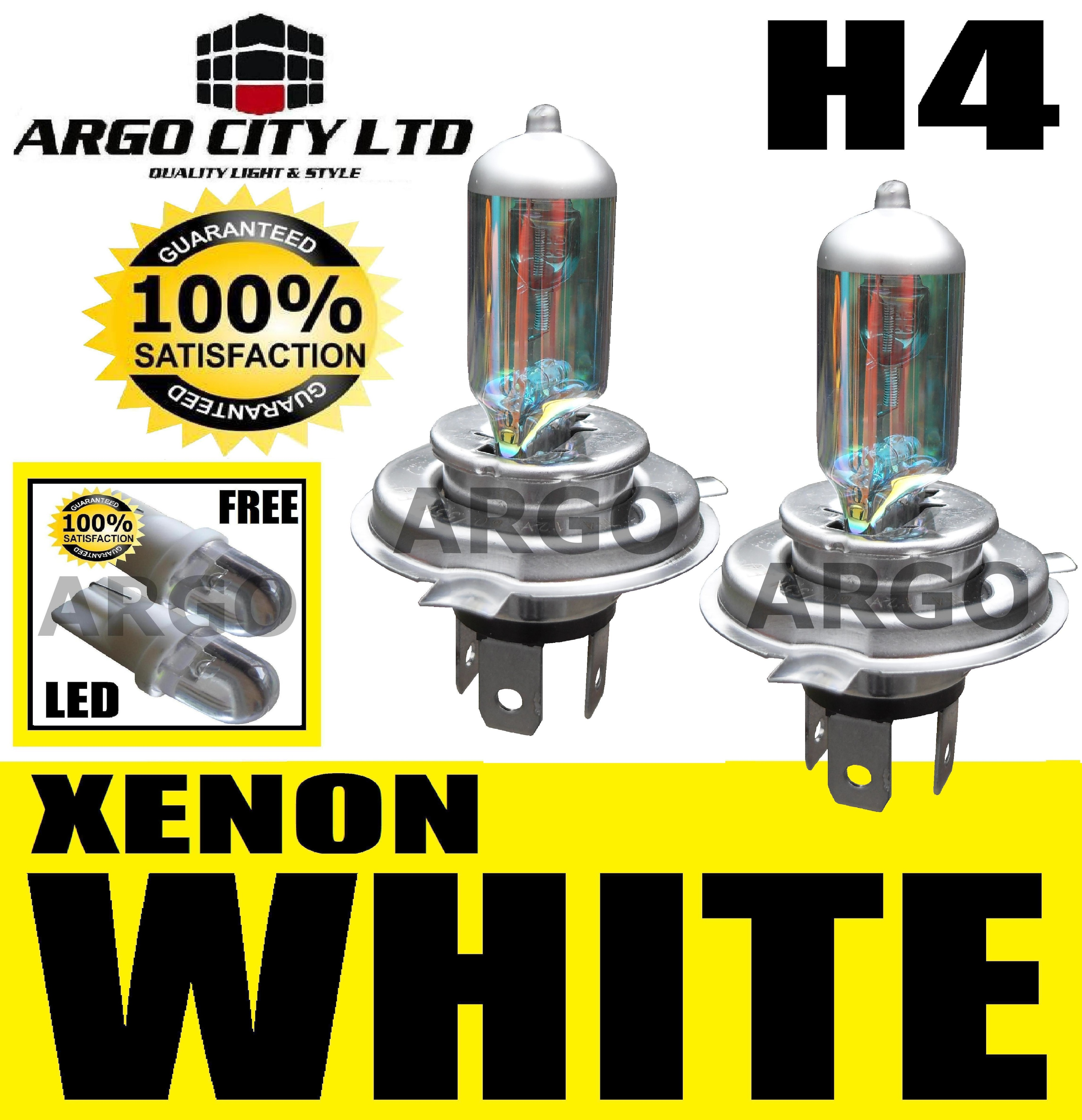 H4 XENON WHITE HEADLIGHT BULBS CHEVROLET CRUZE TACUMA
