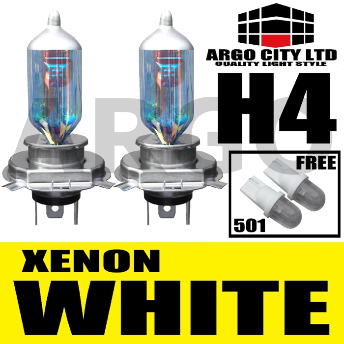 H4 XENON WHITE 55W 472 HEADLIGHT BULBS MOTO GUZZI Daytona 1000 ie (KA)
