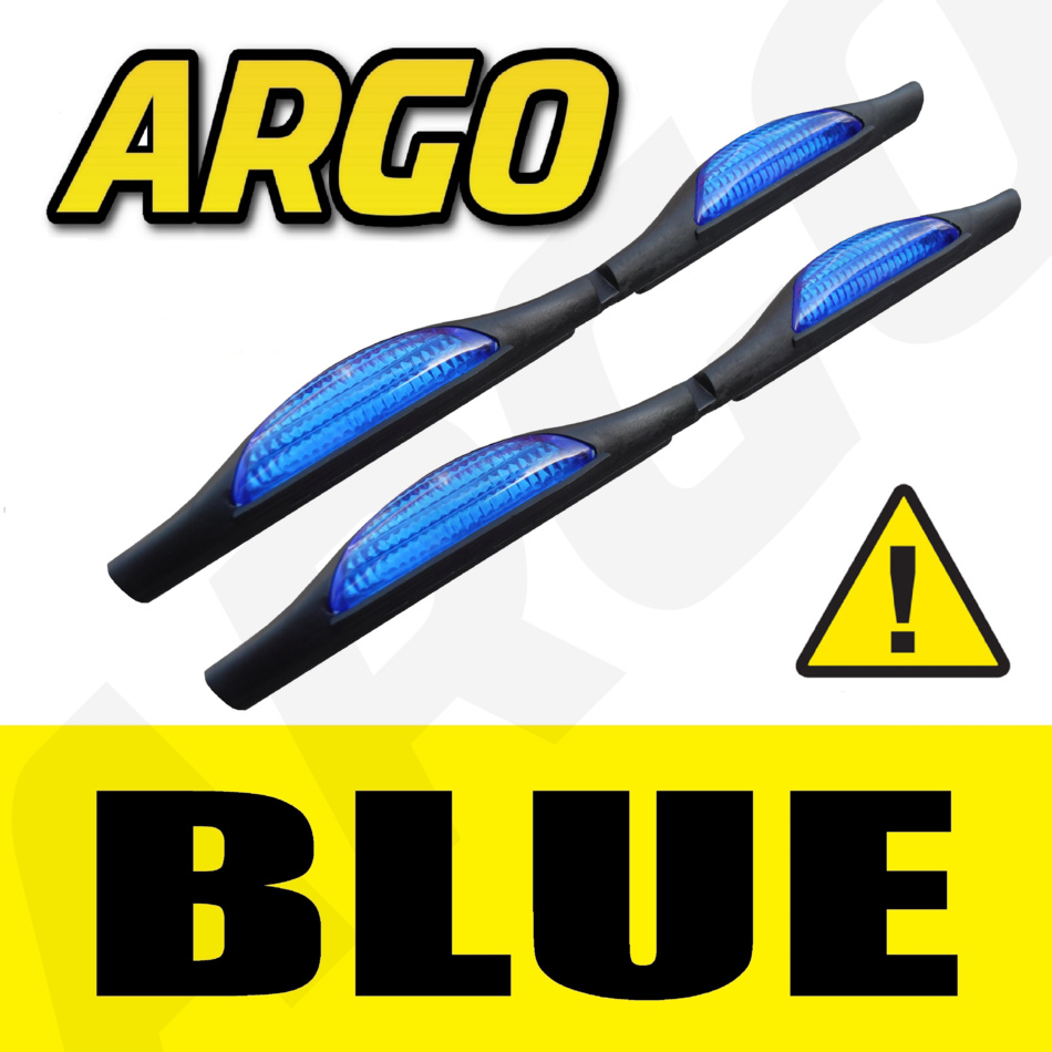 BLUE DOOR GUARD PROTECTORS EDGE STRIP REFLECTORS HONDA CRV MPV