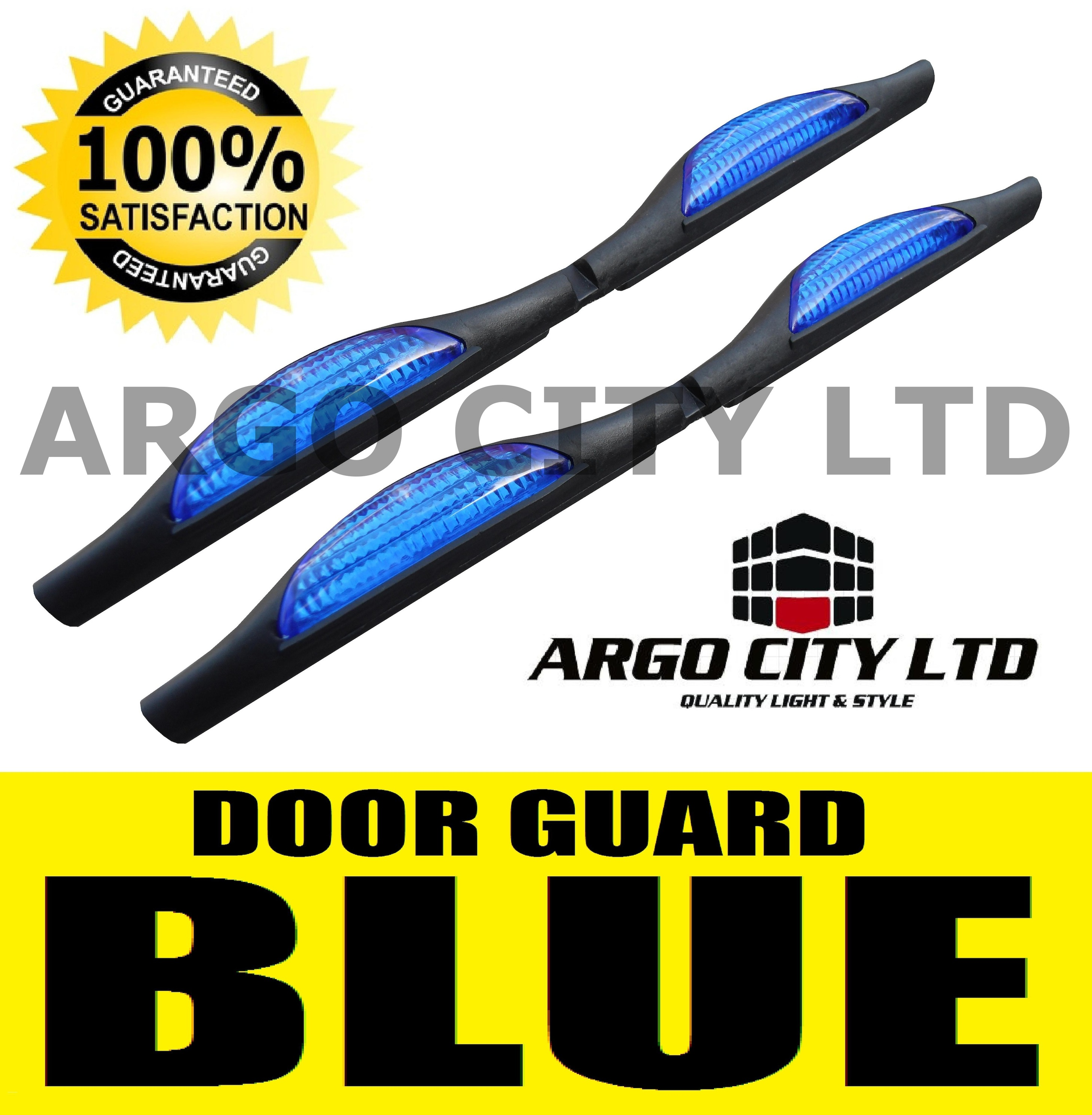 BLUE DOOR GUARD PROTECTORS EDGE STRIP REFLECTORS HONDA INSIGHT