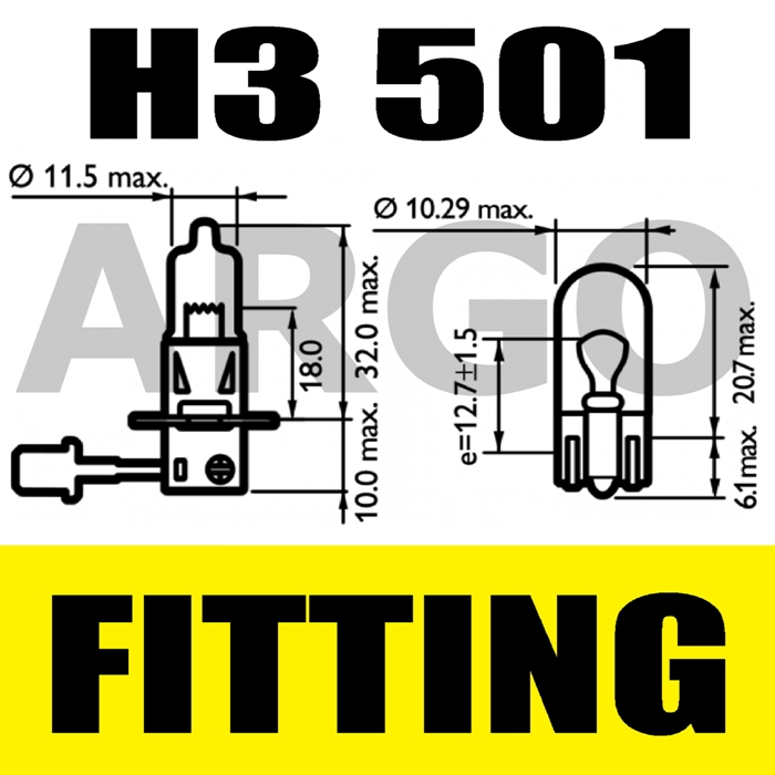 H3 100W SUPER WHITE 453 FOG SPOT LIGHT BULBS HID LANCIA PRISMA