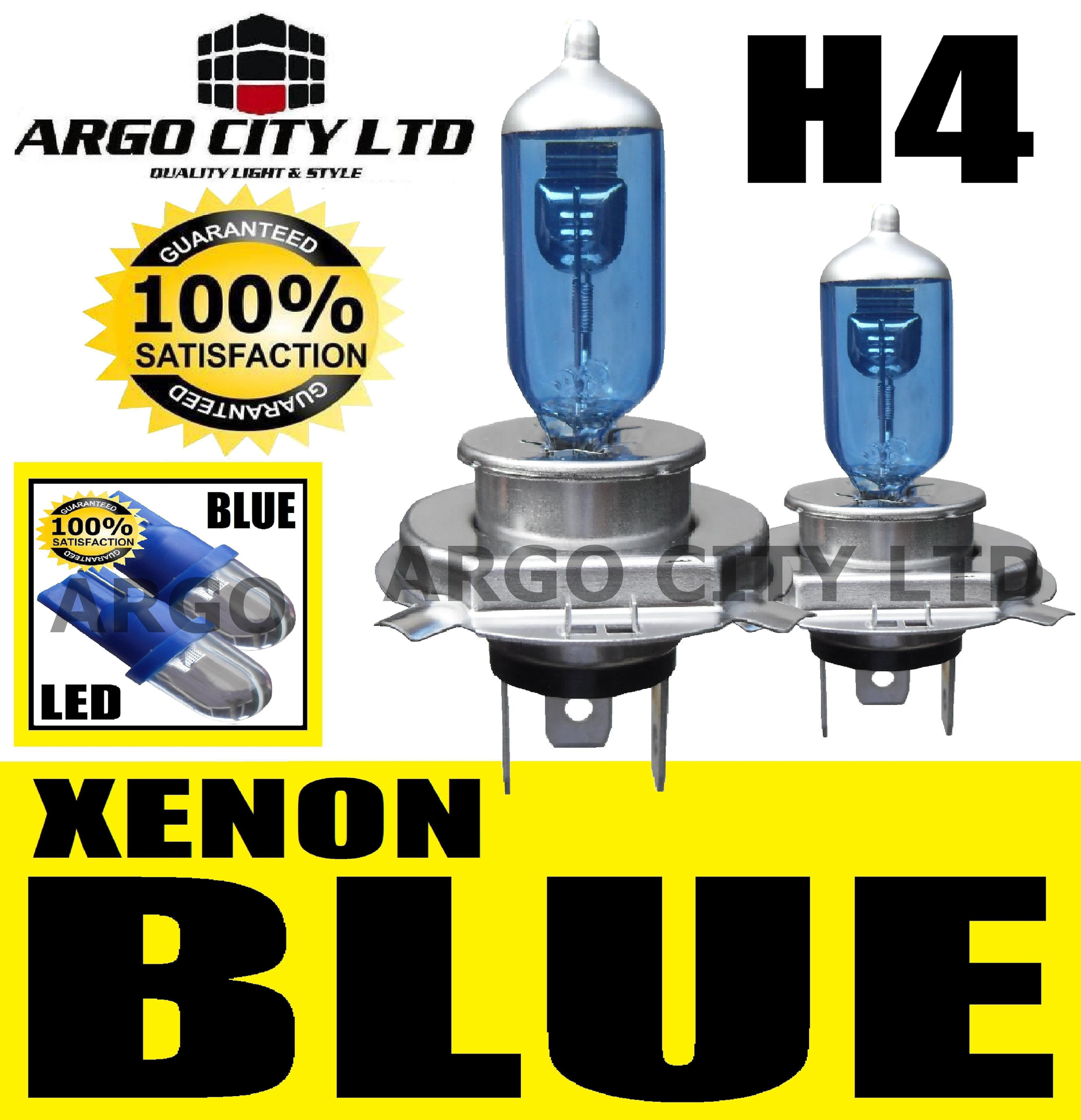 H4 XENON ICE BLUE 55W 472 HEADLIGHT BULBS HARLEY DAVIDSON FXST 1340 Softail