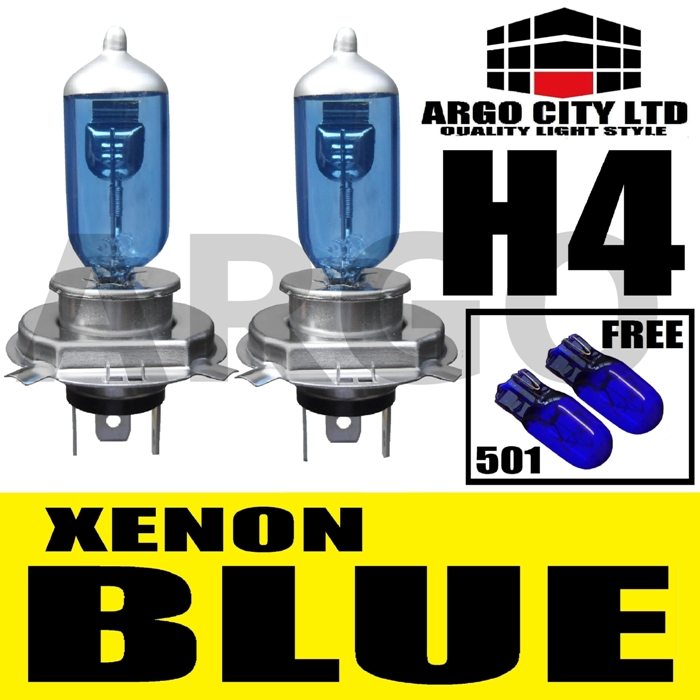 H4 XENON ICE BLUE 55W 472 HEADLIGHT BULBS AUSTIN METRO