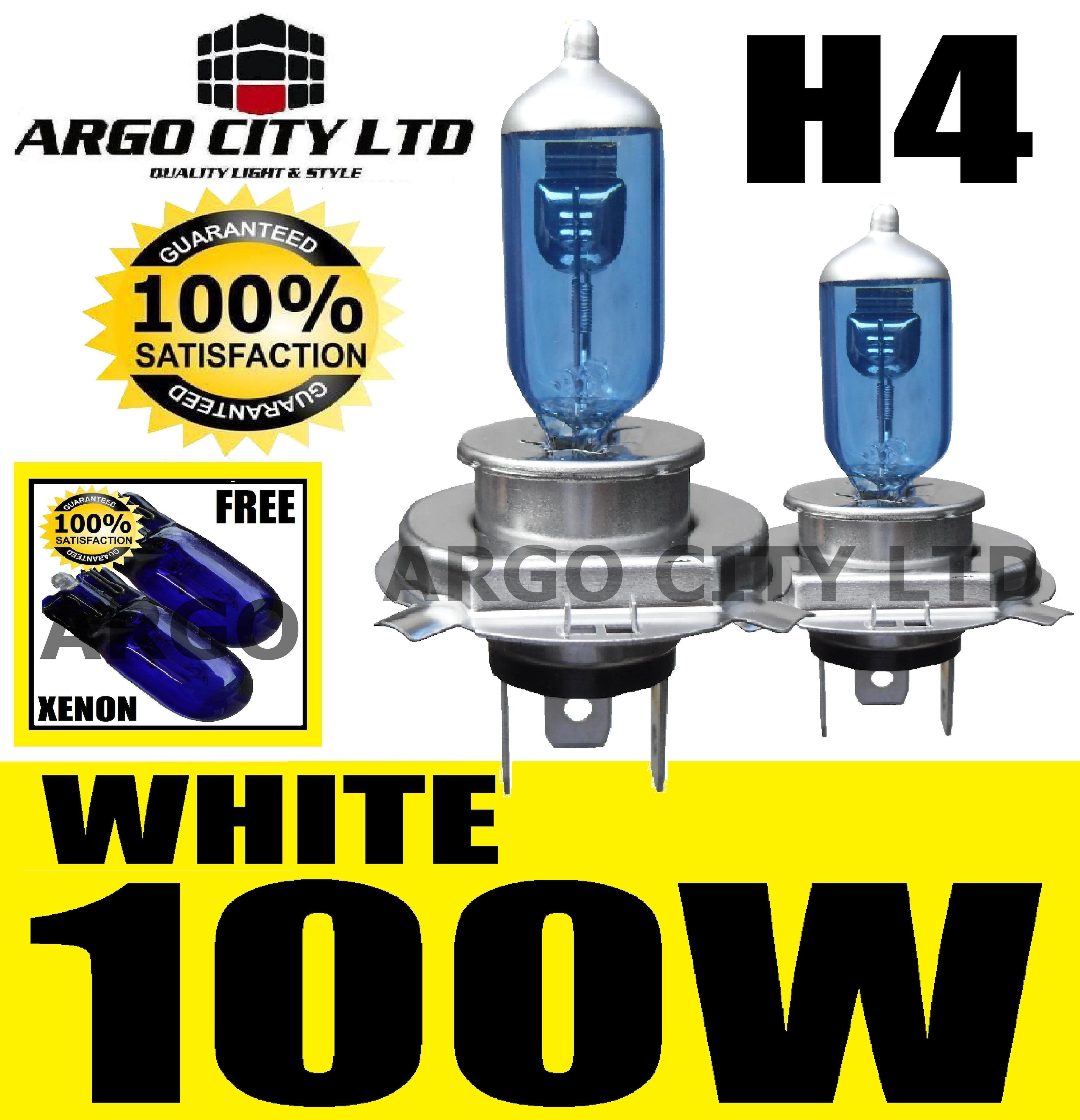 H4 XENON WHITE 100W 472 HEADLIGHT BULBS JEEP CHEROKEE KJ LIBERTY