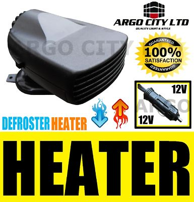 150 12V CERAMIC CAR FAN HEATER CARAVAN PORTABLE PLUGIN DEMISTER DEICER VAN