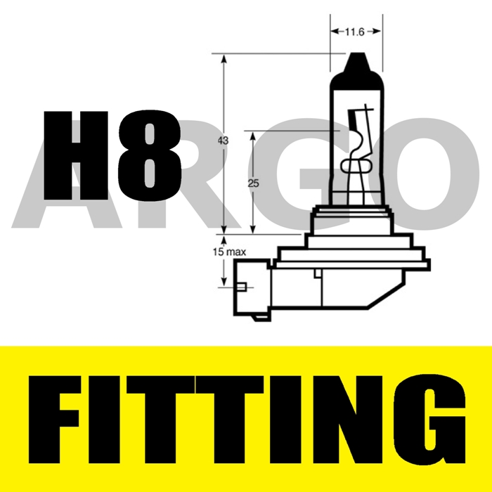 H8 35W 12V XENON WHITE HID FRONT FOG LIGHT BULBS SAAB 9-3 CONVERTIBLE