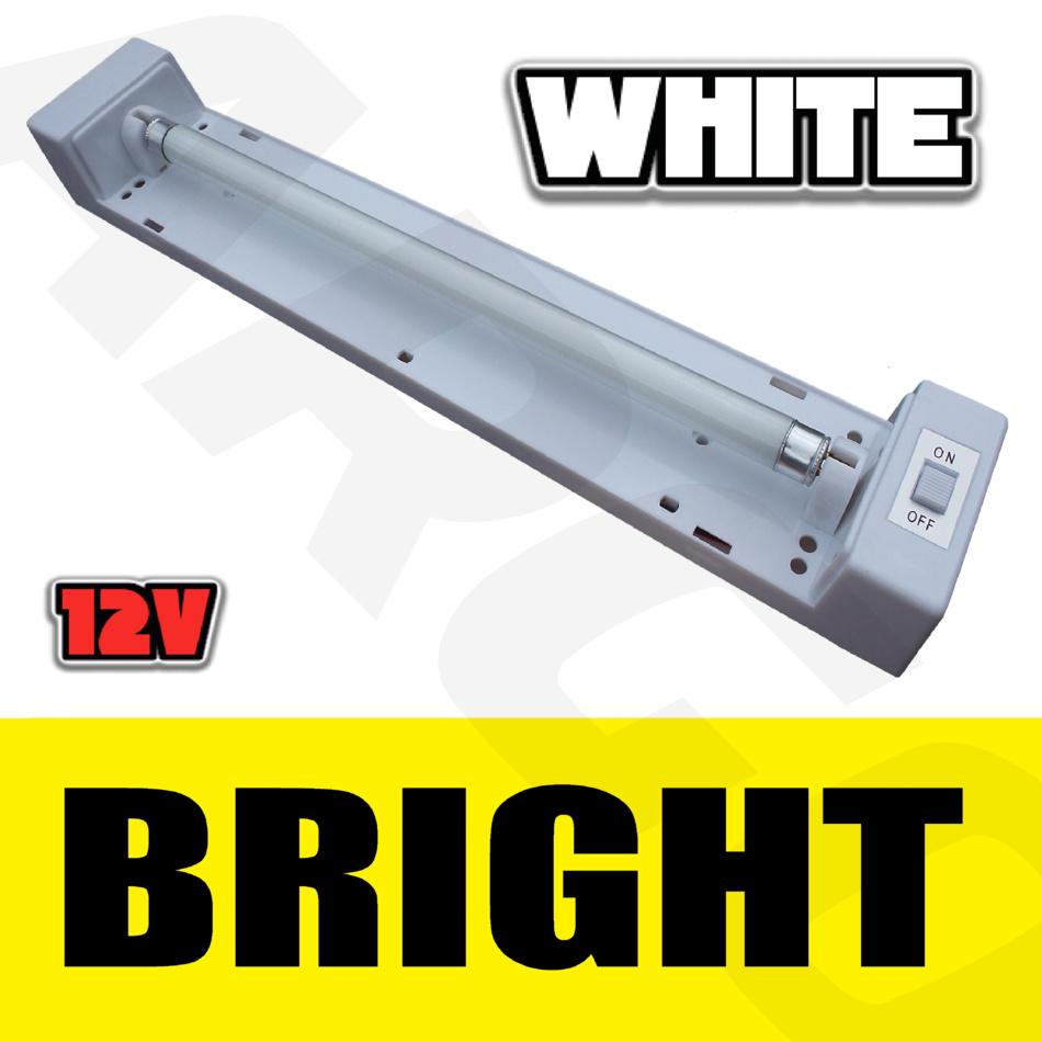 Best Garage Led Strip Lights: 12V TWIN FLUORESCENT STRIP LIGHT GARAGE CABIN SHED
