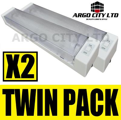 View Item 12V TWIN FLUORESCENT STRIP LIGHT CAR CARAVAN BOAT VAN
